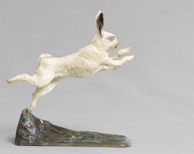 Bronze d 39 un lapin de garenne en fuite - Cuisiner un lapin de garenne ...